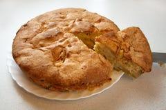 苹果剪切饼 库存照片