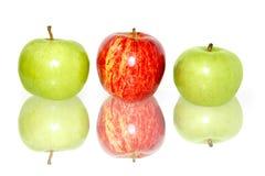 苹果反映白色 图库摄影