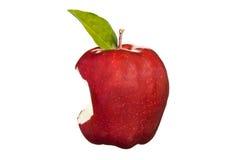 苹果叮咬红色 库存图片