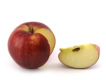 苹果可口红色片式 库存照片