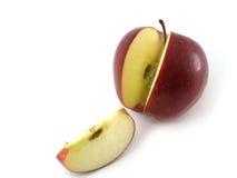 苹果可口红色片式 库存图片