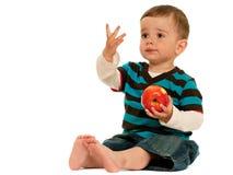 苹果吃我喜欢 免版税库存照片