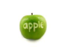 苹果命名了 免版税库存照片