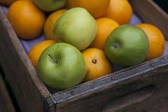 苹果和桔子 免版税库存图片