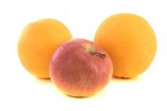 苹果和桔子 免版税库存照片