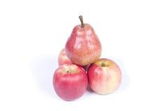 苹果和梨金字塔  图库摄影