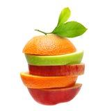 苹果和橙色果子 免版税库存照片