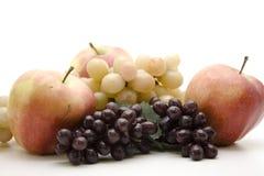 苹果和红葡萄 免版税库存照片