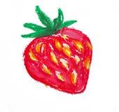 苹果图画查出的叶子 库存图片