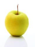 苹果图象查出在空白黄色 库存图片