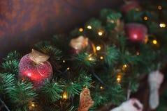 苹果圣诞节红色 免版税库存图片