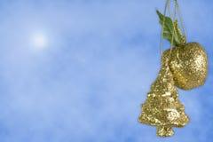 苹果圣诞节装饰结构树 库存图片