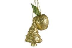 苹果圣诞节装饰结构树 免版税库存照片
