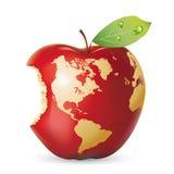 苹果地球红色向量 库存照片