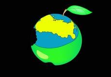 苹果地球 皇族释放例证