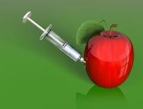 苹果处理 免版税库存图片