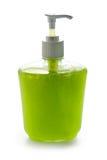 苹果奶油色液体肥皂 免版税图库摄影