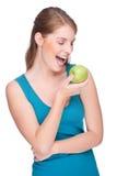 苹果妇女 库存照片