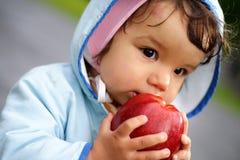 苹果孩子 库存照片