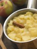 苹果布拉姆利调味汁 库存图片