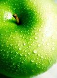 苹果干净的酥脆新绿色 免版税库存图片