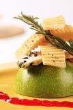 苹果干酪绿色 图库摄影