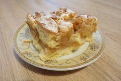 苹果手工制造饼 库存照片
