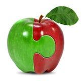 苹果拼贴画 库存照片