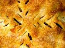 苹果接近的饼 库存照片