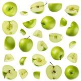 苹果收集绿色 库存图片