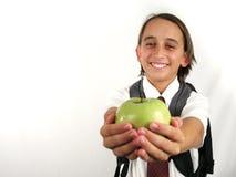 苹果教师 库存图片