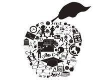 苹果教育 免版税图库摄影