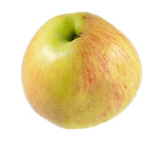 苹果新一半查出的白色起了皱纹 图库摄影
