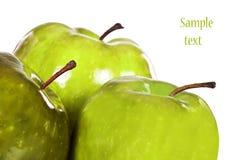 苹果新鲜绿色健康 免版税库存照片