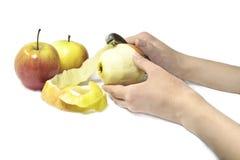苹果果皮 免版税图库摄影