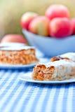 苹果果馅奶酪卷和苹果饼-蛋糕 免版税库存图片