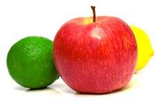 苹果柠檬石灰红色 库存照片