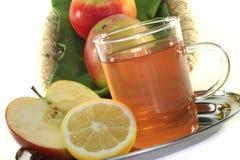 苹果柠檬茶 免版税库存图片