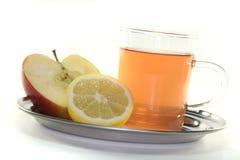 苹果柠檬茶 免版税库存照片