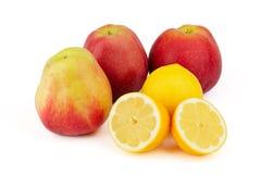 苹果柠檬 免版税库存照片
