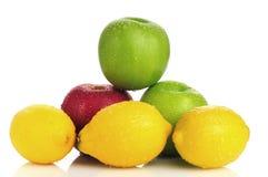 苹果柠檬 免版税库存图片