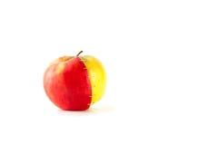 苹果查出成熟二白色 库存图片