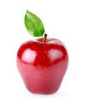 苹果查出的红色 免版税库存照片