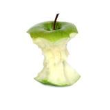 苹果核心绿色 库存图片