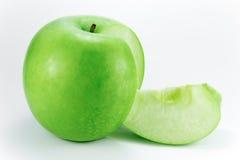 苹果格兰尼史密斯苹果楔子 库存照片