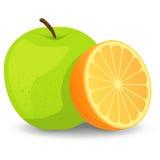 苹果桔子 向量例证
