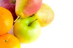 苹果梨红色成熟 免版税图库摄影