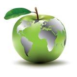苹果概念地球 免版税库存照片