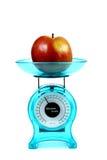 苹果概念饮食厨房缩放比例 库存图片