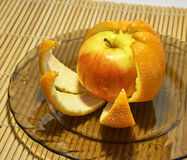 苹果橙皮 图库摄影